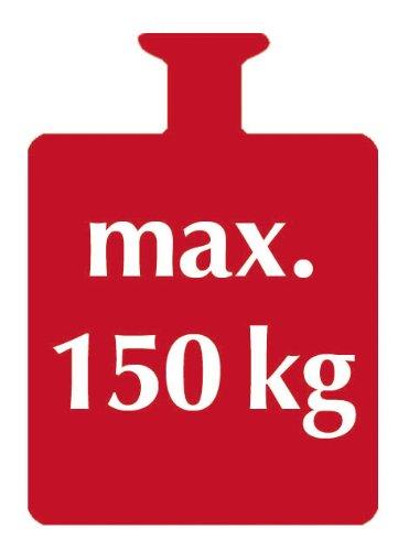 WENKO 17930100 Badewannensitz Secura Weiß - ausziehbar, 150 kg Tragkraft, Kunststoff, 55-65 x 18 x 26 cm, Weiß -