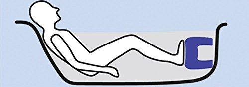 WENKO 7336100 Badewannenhocker Secura - rutschfest, 150 kg Tragkraft, Kunststoff, 40 x 21 x 31 cm, Weiß -