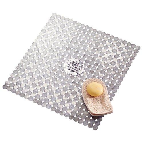mDesign Badematte, Duschmatte - durch Saugnäpfe nicht rutschende Matte für Badezimmer - sicherer Halt und schickes Design