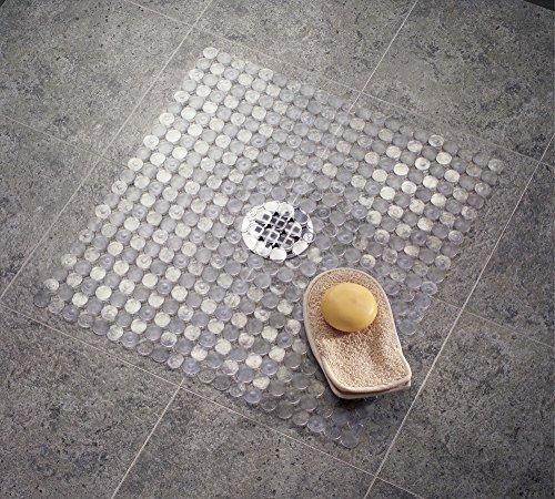 mDesign Badematte, Duschmatte - durch Saugnäpfe nicht rutschende Matte für Badezimmer - sicherer Halt und schickes Design -