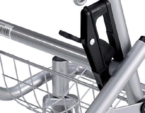 Rollator B silber-metallic mit Korb, Bügelbremse und Tablett -