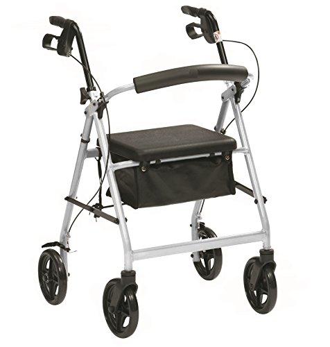 Ultraleichte Aluminium-Klapp Rollator mit Sitz und Bremsen -